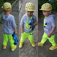 """Детский модный костюм """"Adidas"""" : футболка с капюшоном и штаны (4 цвета)"""