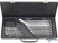 Набор ключей комбинированных 16 предметов 6-24 мм в металлическом ящике