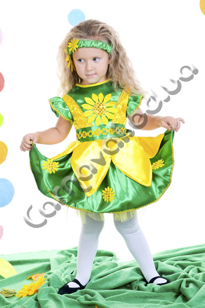Купить Карнавальный костюм Подсолнух для девочки. Продажа ... - photo#12