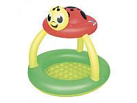 Детский надувной бассейн с навесом Божья коровка 52181 Bestway