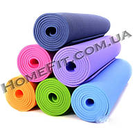 Коврик TPE+TC (183cм/61см/6мм) для йоги и фитнеса