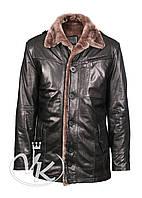 Зимняя кожаная куртка мужская с мехом