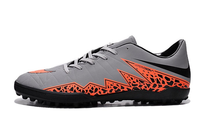 Футбольные сороконожки Nike HyperVenom Phelon II TF Wolf Grey/Total Orange/Black/Black