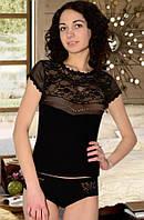 Комплект (футболка и трусы-шорты) (Черный)