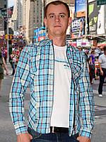 Мужская рубашка  (Голубой)