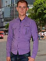 Мужская рубашка (Фиолетовый)
