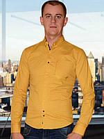 Мужская рубашка (Желтый)