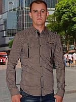 Мужская рубашка (Коричневый)