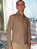 Мужская рубашка  (Светло коричневый)