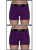 Набор мужских трусов боксеров (шортов) - 2 шт. (Фиолетовый)