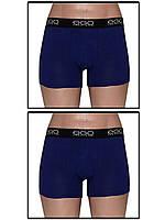 Набор мужских трусов боксеров (шортов) - 2 шт. (Синий)