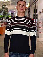 Мужской свитер (пуловер)        (Cиний)