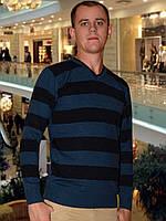 Мужской свитер (пуловер)    (Темно синий)