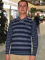 Мужской свитер (пуловер)     (Синий)