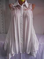 Блузка-туника женская белая