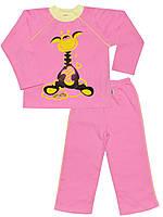 Утепленная детская пижама (кофта и брюки) (Розовый)