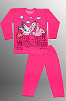 Теплая детская пижама (кофта и брюки)   (Малиновый)
