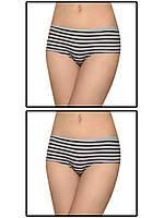 Набор женских трусов мини шорт - 2 шт. (Серый с черным)