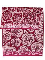Банное махровое полотенце  (Бордовый)