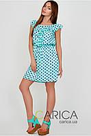 Шифоновое платье в горох размеры 42 44 46  Carica KP-5734