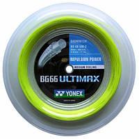 Струна для бадминтона Yonex BG-66 Ultimax (бобина 200 метров) BG-66 Yellow