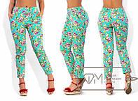 Модные летние цветные брюки,размеры 48-54,модель № X4386