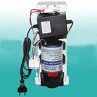 Насос (помпа) 50GPD-24v, для  фильтра очистки воды обратного осмоса на кронштейне в сборе