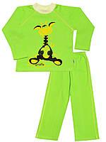Утепленная детская пижама (кофта и брюки)   (Зеленый)