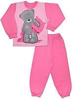 Теплая детская пижама (кофта и брюки) (Розовый)