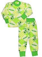 Теплая детская пижама (кофта и брюки) (Зеленый, Мики Маус)