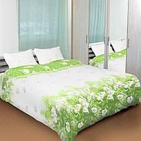 Комплект постельного белья ТЕП (Белый, зеленый)