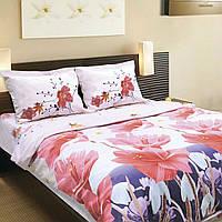 Комплект постельного белья ТЕП (Белый, розовый)