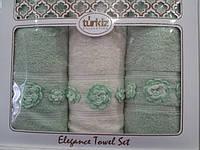 Подарочный набор полотенец из 3- полотенец (банное +2 лицевых)