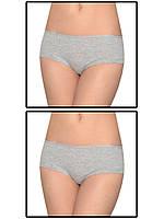 Набор женских трусов мини шорт - 2 шт. (Серый)