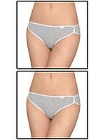 Набор женских трусов слипов - 2 шт. (Серый)