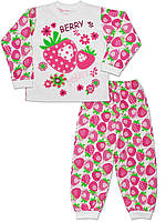 Детская пижама (кофта и брюки) (Белый с малиновым)