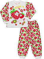 Детская пижама (кофта и брюки) (Белый с красным)