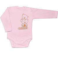 Детское боди (Розовый, мишки)