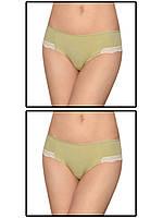 Набор женских трусов мини шорт - 2 шт. (Зеленый)
