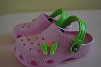 Кроксы, шлепки летние на девочку 22-23, 24-25, 26-27 размер. Детская летняя обувь. Обувь для девочки