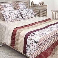 Комплект постельного белья ТЕП (Бежевый, бордовый)