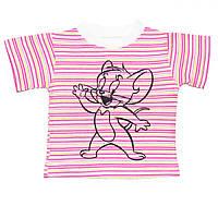 Детская футболка  (Розовый. мыш)
