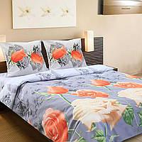 Комплект постельного белья ТЕП (Серый, оранжевый)
