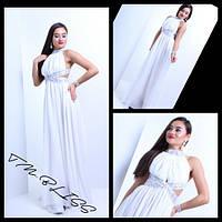 Женское шикарное шифоновое платье в пол с украшение (2 цвета)