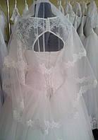 Свадебная кружевная фата (Ф-Кд-24) кремовая
