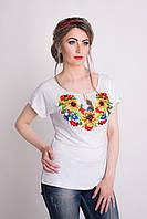 Женская трикотажная вышиванка Подсолнух