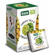 Чай + кофе зеленый пакетированный Green Fit для похудения со вкусом ананаса 25 пакетиков