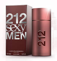Мужская оригинальная туалетная вода Carolina Herrera 212 Sexy Men, 100ml NNR ORGAP