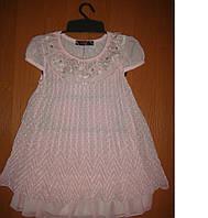 Шифоновое розовое платье для девочки