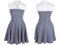 Платье женское. Застегивается на потайную молнию сзади.